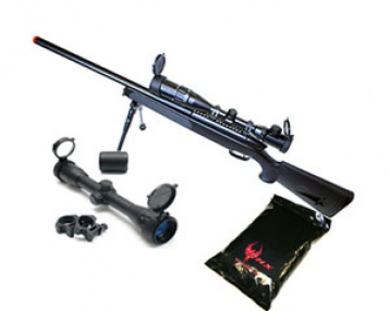 UTG Full Metal Gen. 5 M324S Pro Bolt Action Sniper Rifle Airsoft Gun ( BLK / Scope / BB's Package )