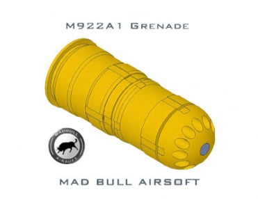 Mad Bull 922A1 Dummy Round BB Grenade Shell