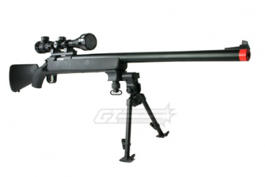 JG Full Metal BAR 10 Bolt Action Sniper Rifle Airsoft Gun ( BLK / Scope Package )