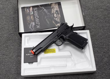 *OPEN BOX BUY* (3789) KJW Full Metal M1911 Tactical GBB Airsoft Gun ( BLK )