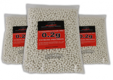 ICS .20g ( White ) Extreme Precision BBs 3 Bag Special