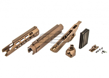 Action Army AAC-21 CNC Conversion Kit for KJW/Tanaka M700 Airsoft Sniper Rifle ( FDE )