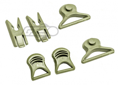 Lancer Tactical Goggle Swivel Clips For FAST Helmet ( Foliage Green )