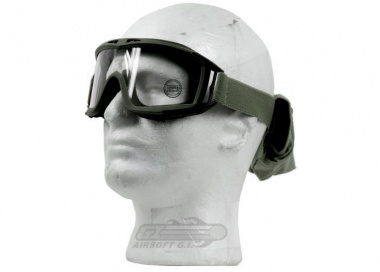 Lancer Tactical CA-211GB Airsoft Safety Mask Standard - OD Green Frame / Clear Lens