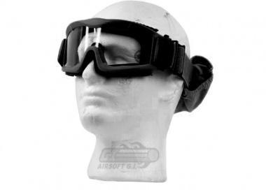 Lancer Tactical CA-221B Airsoft Safety Mask Vented - Black Frame / Clear Lens