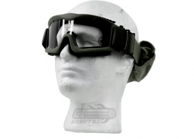Lancer Tactical CA-221G Airsoft Safety Mask Vented - OD Green Frame / Clear Lens