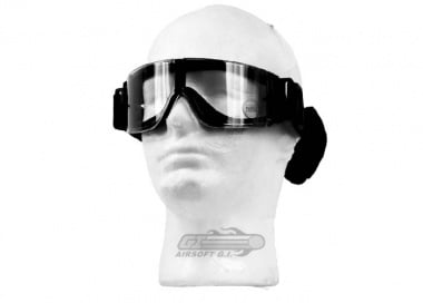 Lancer Tactical CA-231B Airsoft Safety Goggles - Framless / Clear Lens