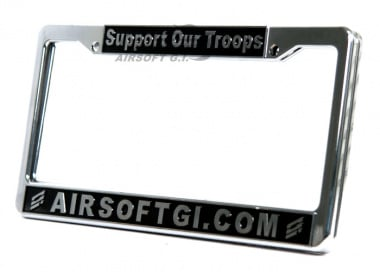 Airsoft GI Support Our Troops License Plate Frames