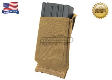 Blue Force Gear Helium Whisper Ten-Speed Single SR25 Mag Pouch ( Coyote )