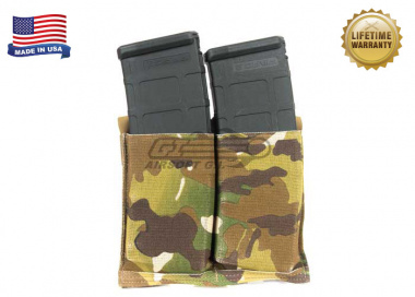 Blue Force Gear Ten-Speed Double M4 Pouch with Helium Whisper Attachment System ( Multicam )