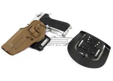 BLACKHAWK SERPA CQC Holster for Beretta M9 ( Coyote Tan / Left Handed )