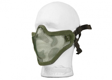 Bravo Strike Steel Half-Face Mesh Mask ( Woodland )