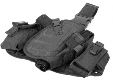 Lancer Tactical MOLLE Platform Drop Leg Holster ( BLK )