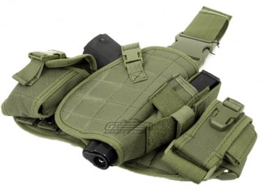 Lancer Tactical MOLLE Platform Drop Leg Holster ( OD )