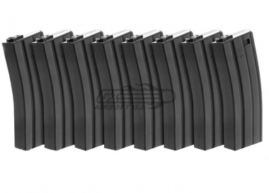 Echo 1 100rd M4 / M16 Dogs of War Metal Mid Capacity AEG Magazine ( 8 Pack )