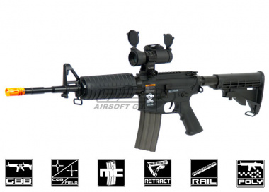 Combat Machine M4 Carbine Gas Blow Back Airsoft Gun ( BLK )