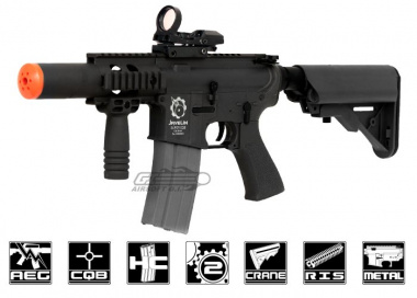 Javelin Airsoft Works Full Metal Super M4 CQB AEG Airsoft Gun ( Black )