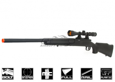JG M70 Bolt Action Sniper Rifle Airsoft Gun ( Black )