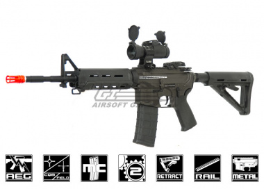 King Arms Full Metal Smith & Wesson M&P15 MOE Carbine AEG Airsoft Gun ( Black )