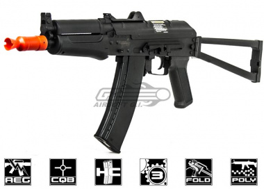 Lancer Tactical AK74U Full Metal Gearbox AEG Airsoft Gun ( Black )