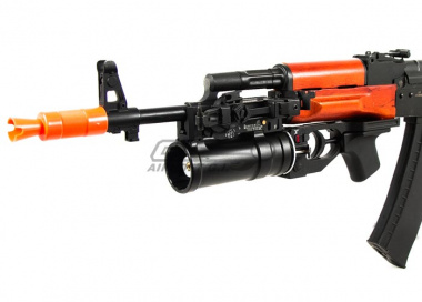 Lancer Tactical Full Metal AK Grenade Launcher with Grenade Shell