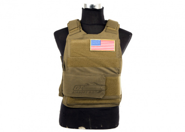 Lancer Tactical Slick Armor Carrier ( TAN )