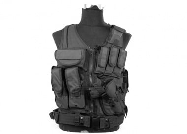 Lancer Tactical Cross Draw Vest ( BLK )