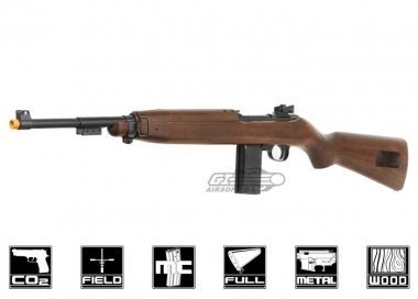 Marushin Full Metal / Real Wood 6mm M1 Carbine CO2 Powered Semi Automatic Airsoft Gun