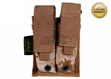 Pantac USA 1000D Cordura Molle 9mm Double Magazine Pouch ( Desert Digital )