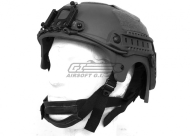 Tactical Crusader IBH Helmet W/ NVG Mount and Side Rail ( Black )