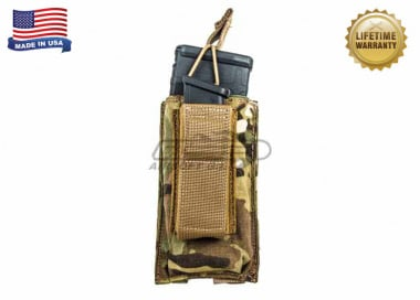 Tactical Assault Gear Single MOLLE Shingle Pistol Enhanced Mag Pouch ( MC )