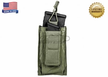 Tactical Assault Gear Single MOLLE Shingle Pistol Enhanced Mag Pouch ( RG )