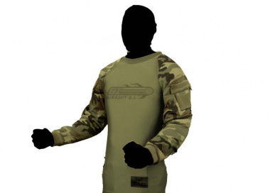 V-Tac Zulu Combat Shirt ( Woodland / Small )