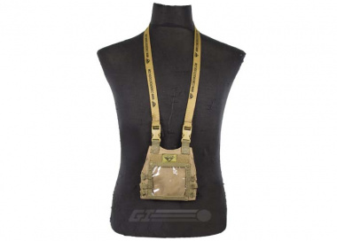 Condor Outdoor Mini Plate Carrier ID Panel ( TAN )