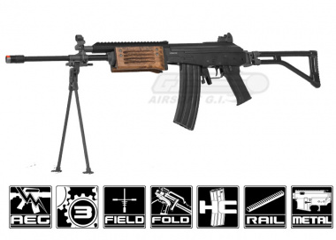 ICS Full Metal / Real Wood Galil RIS AEG Airsoft Gun