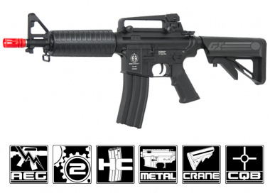 ICS Full Metal M4 Commando w/ Crane Stock AEG Airsoft Gun