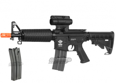 Combat Machine M4 CQB Gas Blow Back Airsoft Gun 2 Magazines Package Deal ( BLK )
