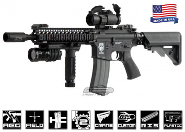 Airsoft GI G4-A2 Blazing Hog w/ Daniel Defense SOPMOD RIS Blowback Version AEG Airsoft Gun