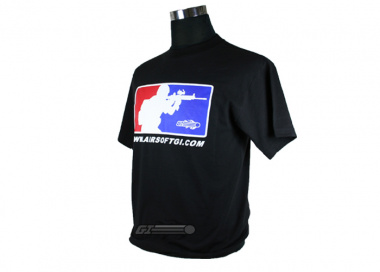 Airsoft GI Major League T-Shirt ( Black / XL )