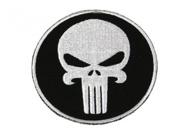 Action Velcro Patch - Large Skull ( Circle )