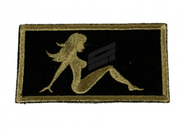 Action Velcro Patch - Small Lady ( BLK )
