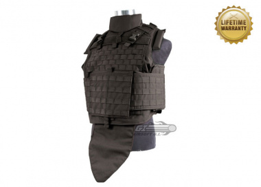 Pantac USA 1000D Cordura Interceptor Plate Carrier ( Medium / Black / Tactical Vest )