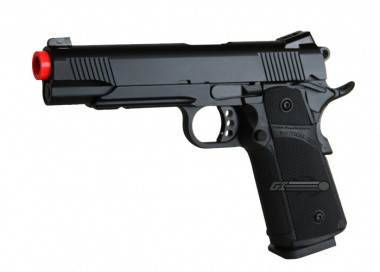 KJW Full Metal M1911 Tactical GBB Airsoft Gun ( BLK )