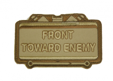 MM Front Toward Enemy Velcro Patch ( TAN )