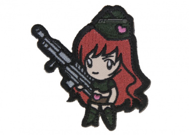 MM Gun Girl Patch ( High Contrast )