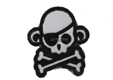 MM Skullmonkey Pirate Velcro Patch ( Swat )