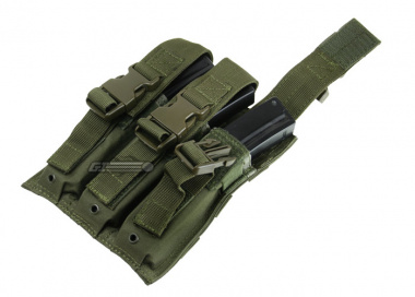 Condor Outdoor MOLLE Triple SMG Pouch ( OD )