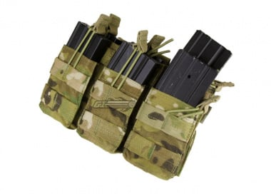 Condor / OE TECH MOLLE Triple Open Top Stacker M4 / M16 Pouch ( Multicam )