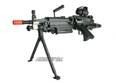 A&K Full Metal M249 PARA AEG Airsoft Gun ( No Carrying Case )