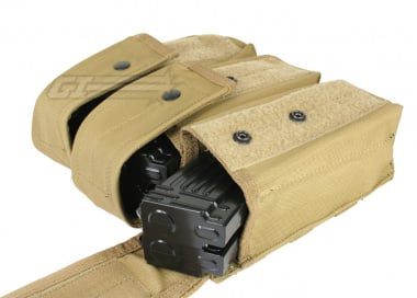 Condor Outdoor MOLLE Triple AK Magazine Pouch ( TAN )